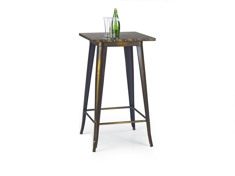 Masa de bar din metal SB-8 Yellow Cooper, L60xl60xH106 cm poza
