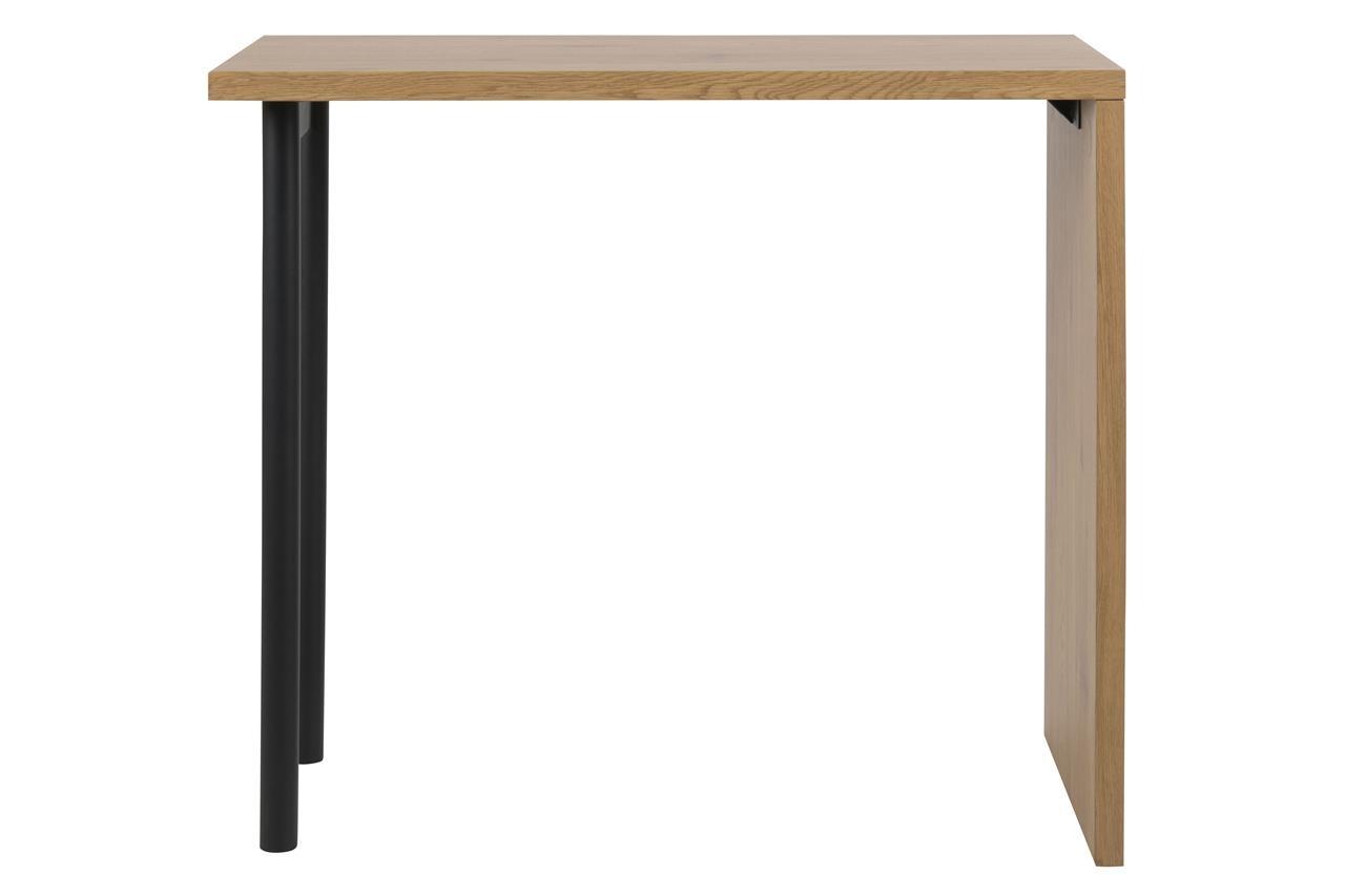 Masa de bar din pal si metal Budgie Stejar / Negru, L120xl60xH105 cm imagine