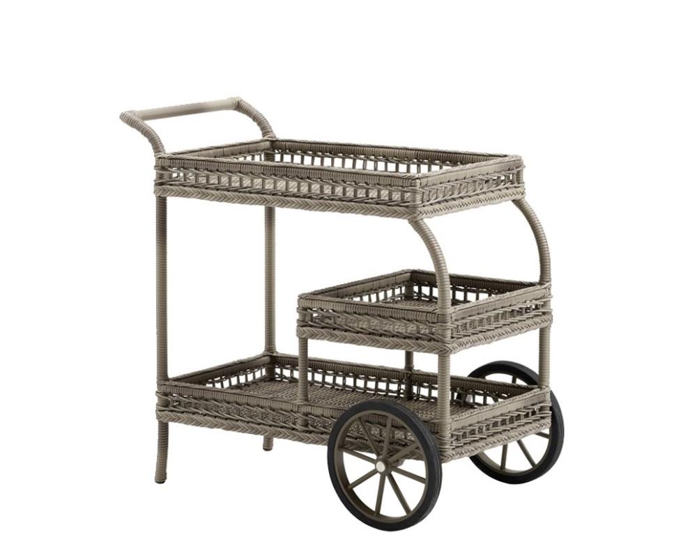 Masa de bar mobila din ratan James Antique, L92xl49xh94 cm de la