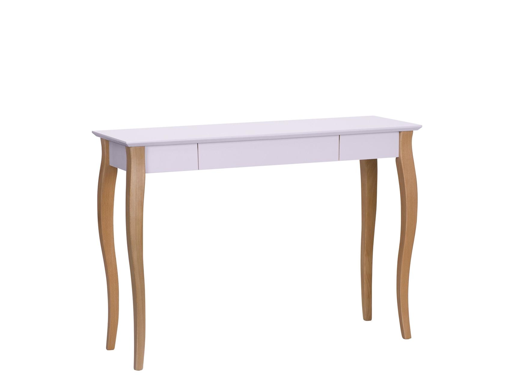 Masa de birou din lemn de fag si MDF cu 1 sertar Lillo Large Dusky Pink / Beech L105xl40xH74 cm
