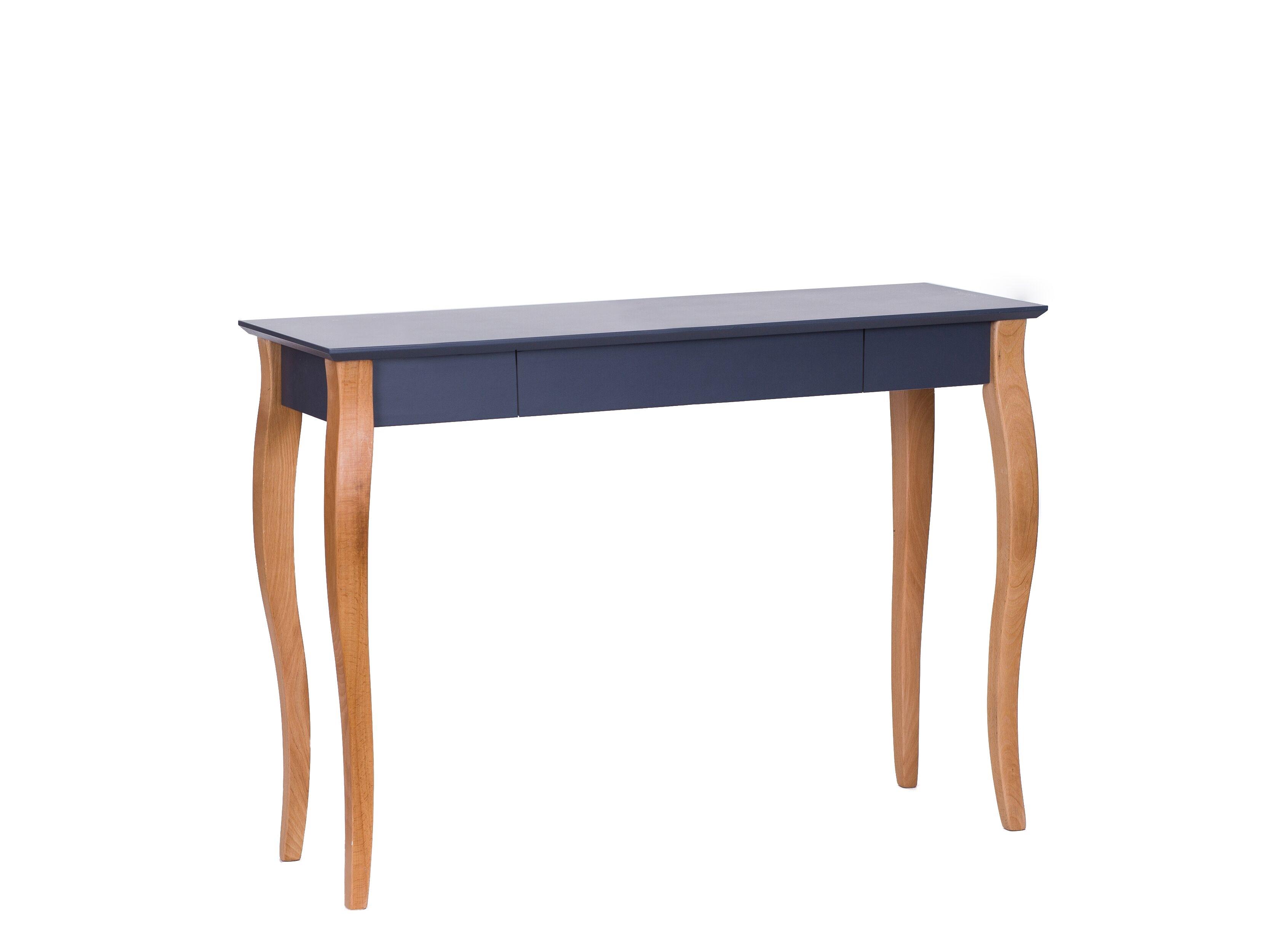 Masa de birou din lemn de fag si MDF cu 1 sertar Lillo Large Graphite / Beech L105xl40xH74 cm