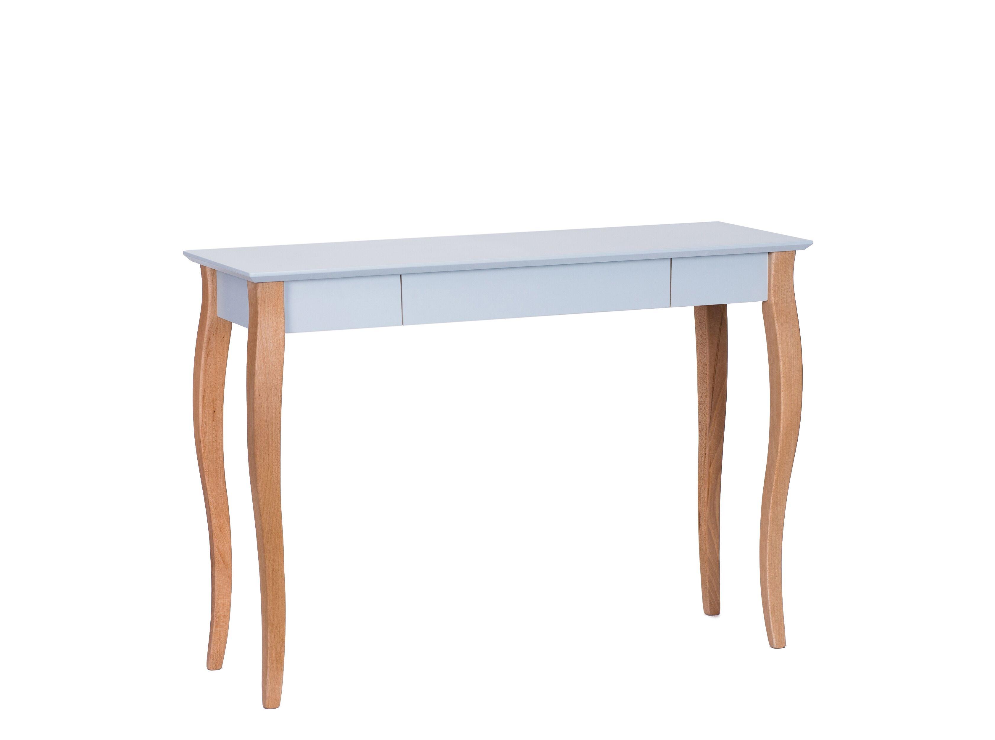 Masa de birou din lemn de fag si MDF cu 1 sertar Lillo Large Light Grey / Beech L105xl40xH74 cm