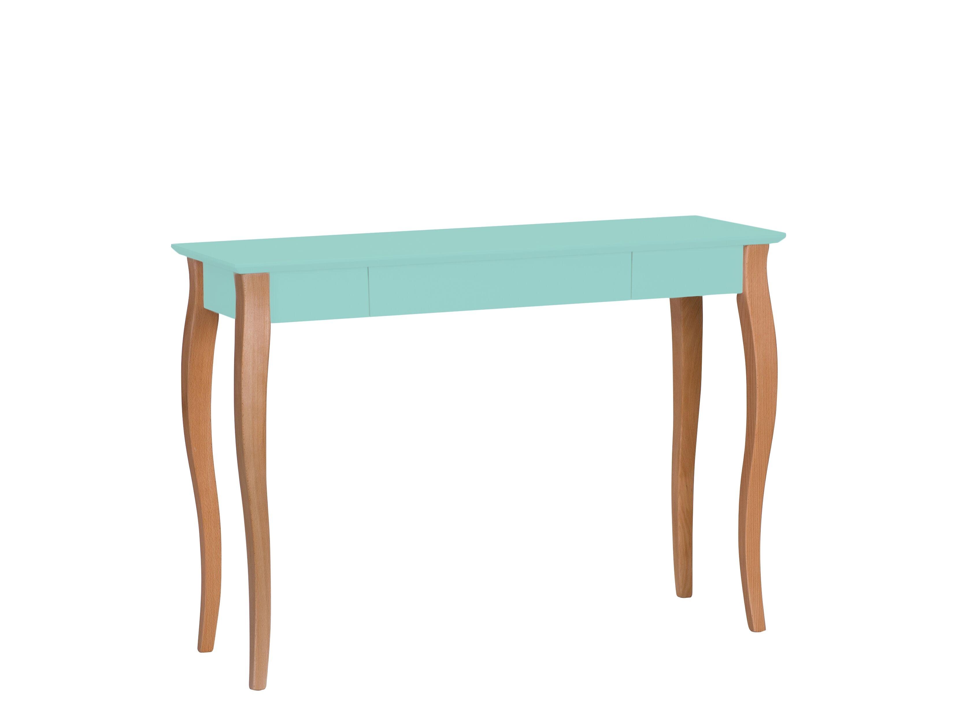 Masa de birou din lemn de fag si MDF cu 1 sertar Lillo Large Mint / Beech L105xl40xH74 cm