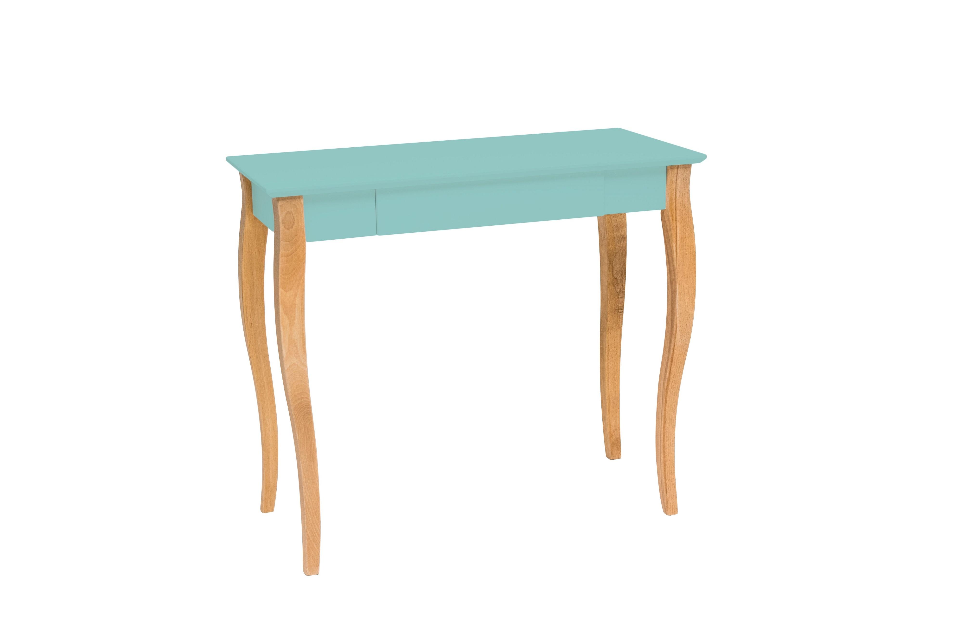 Masa de birou din lemn de fag si MDF cu 1 sertar Lillo Medium Mint / Beech L85xl40xH74 cm