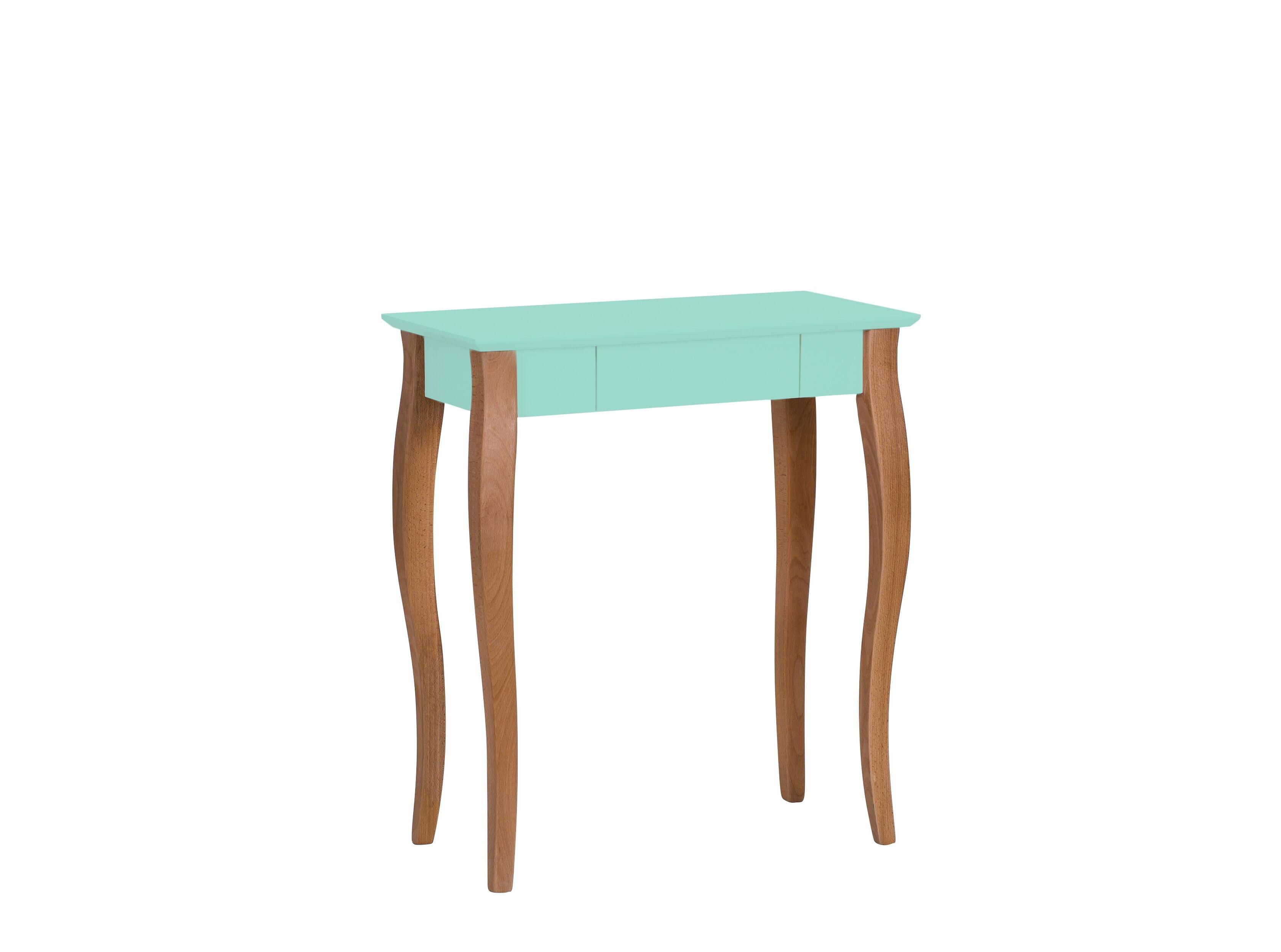 Masa de birou din lemn de fag si MDF cu 1 sertar Lillo Small Mint / Beech L65xl40xH74 cm