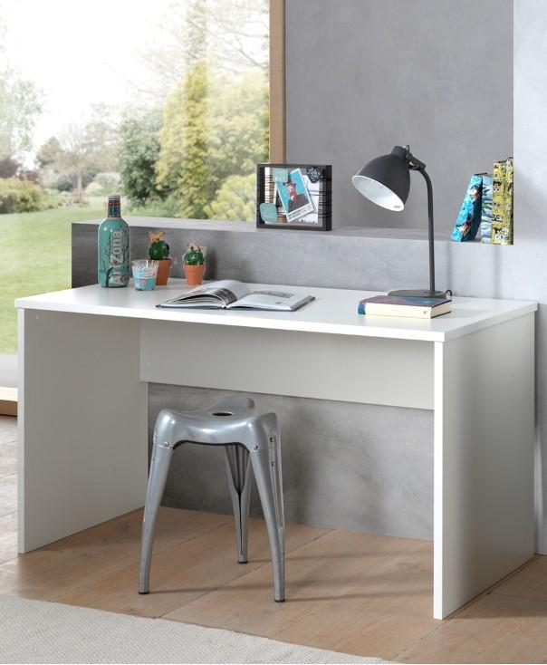 Masa de birou din lemn de fag si pal pentru copii London Alb, L140xl65xH75 cm imagine