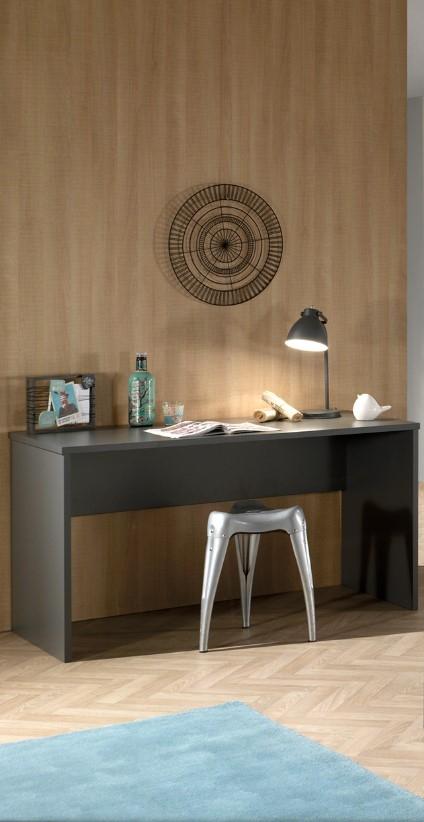 Masa de birou din lemn de fag si pal pentru copii London Antracit, L140xl65xH75 cm imagine