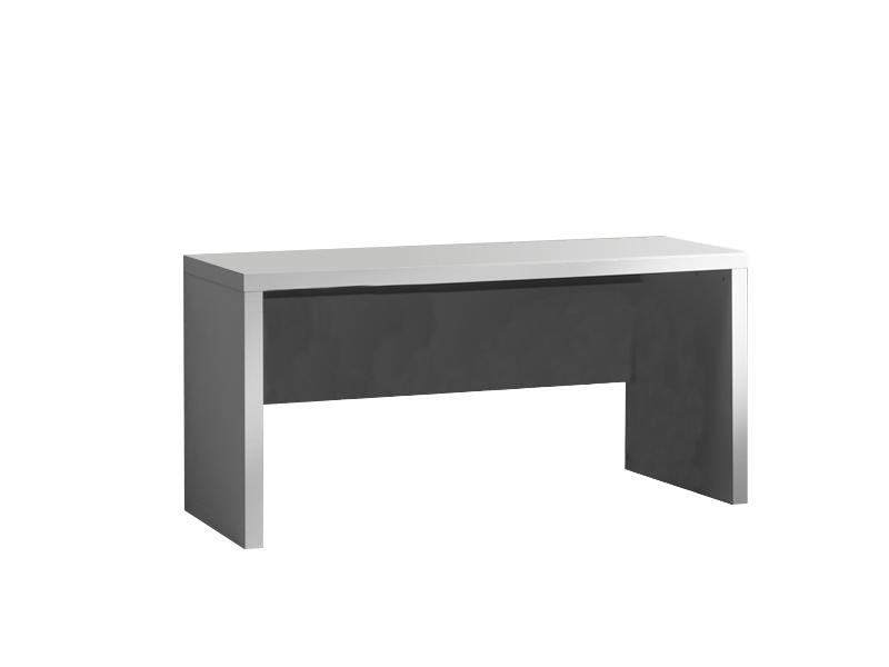 Masa de birou din lemn de pin si MDF, pentru copii si tineret Lara Alb, L150xl70xH75,5 cm imagine