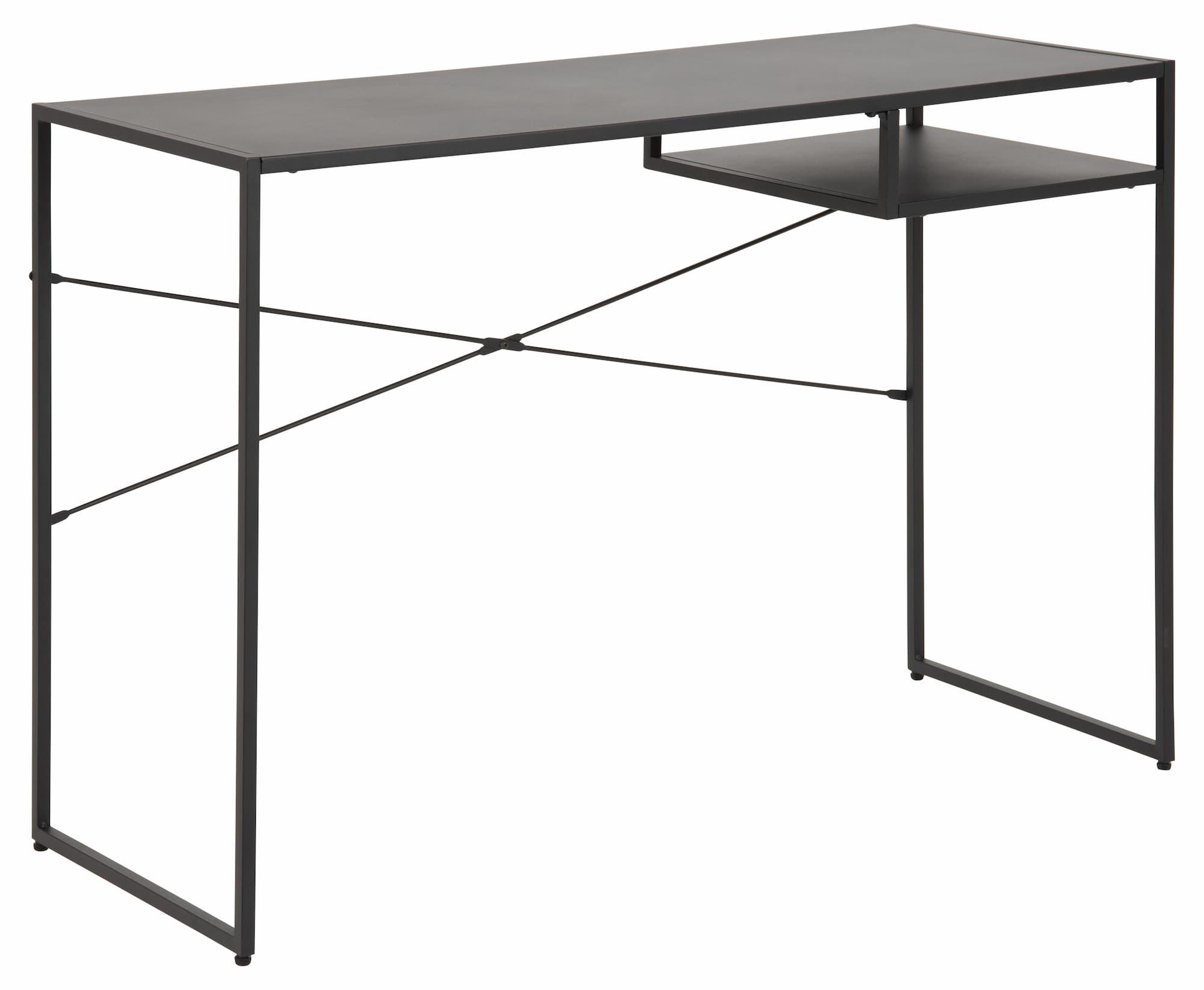Masa de birou din metal Newcastle Negru, L110xl45xH75 cm somproduct.ro
