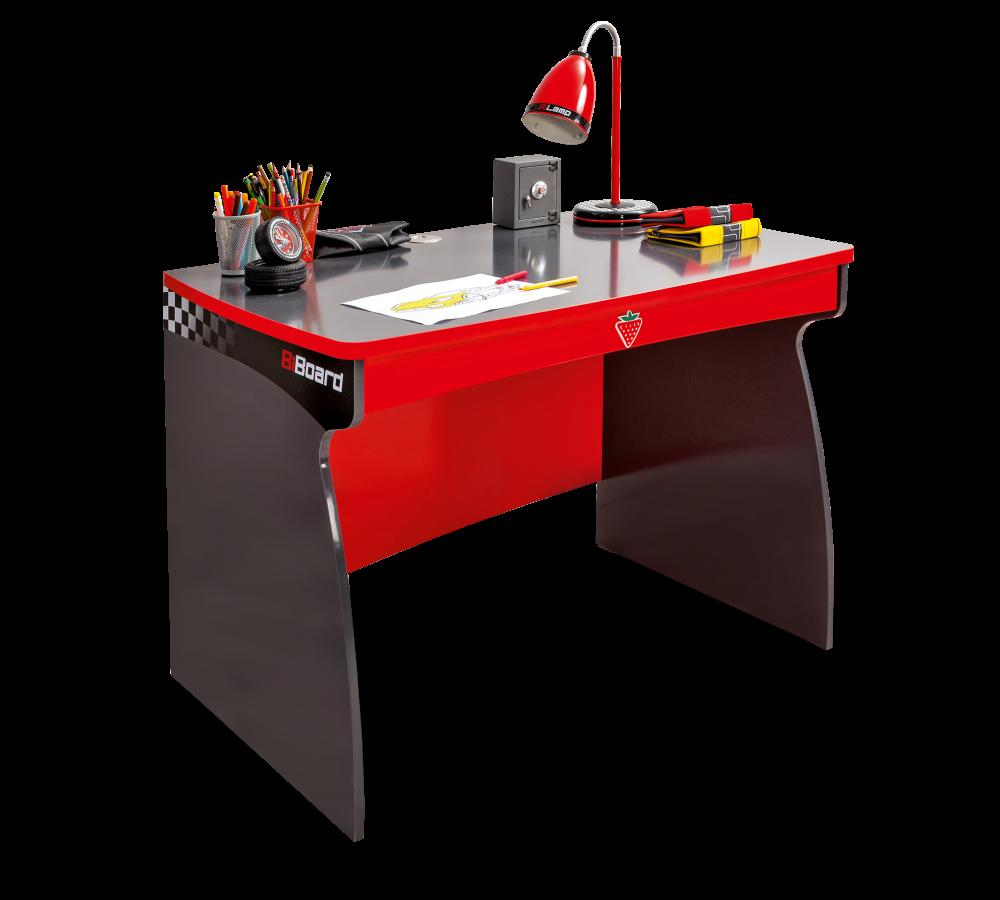Masa de birou din pal pentru copii Champion Racer Red / Grey L107xl68xH76 cm