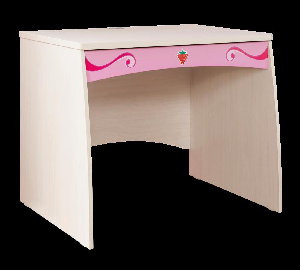 Masa de birou din pal, pentru copii Little Princess Pink / Nature, L91xl70xH75 cm imagine