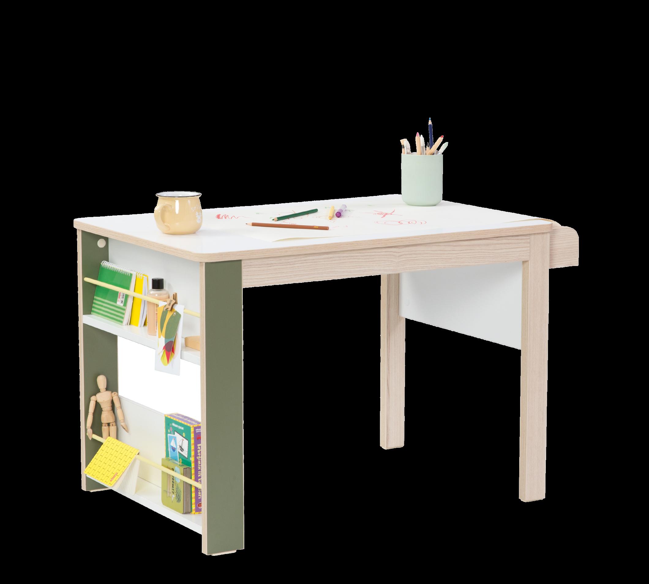 Masa de birou din pal, pentru copii Montessori Natural, L88xl57xH56 cm imagine