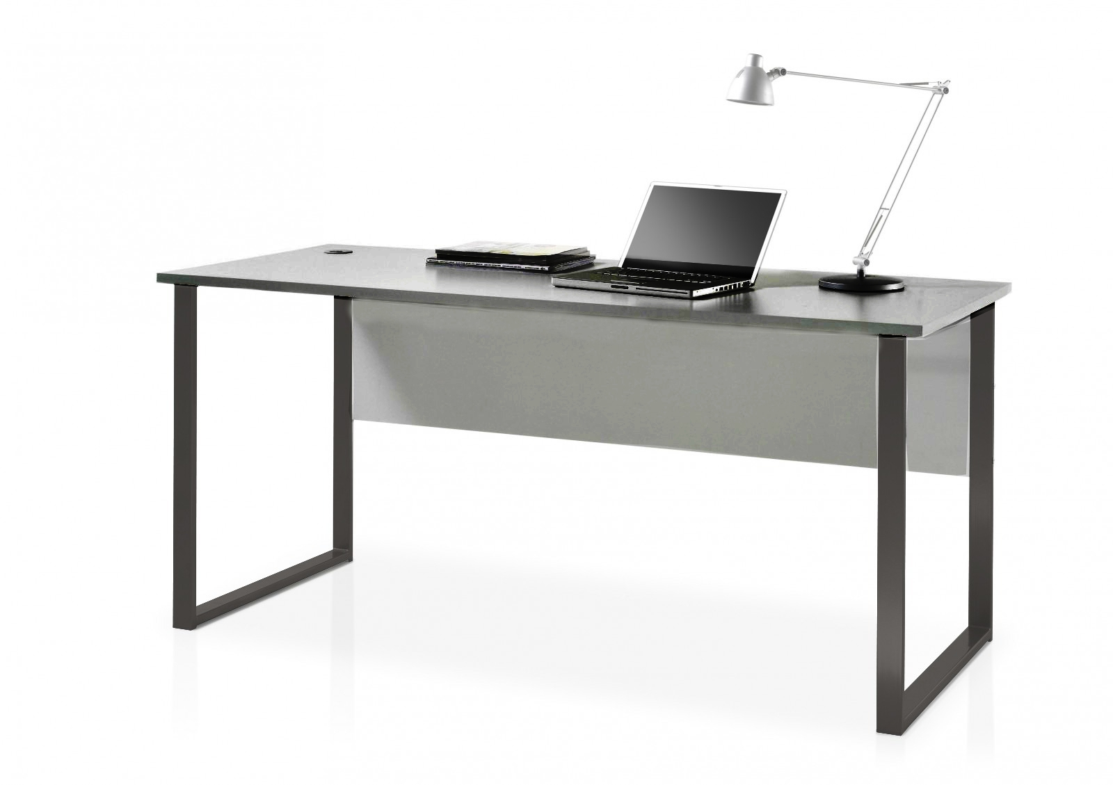Masa de birou din pal si metal, Luxury Gri / Grafit, L170xl73xH76 cm somproduct.ro