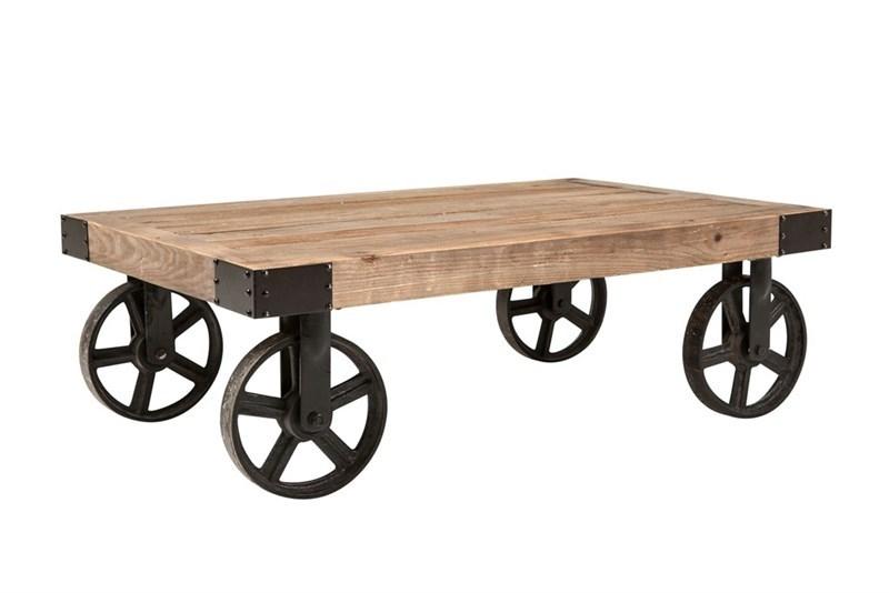 Masa de cafea din lemn si metal Buffalo Natural / Black L110xl72xH36 cm