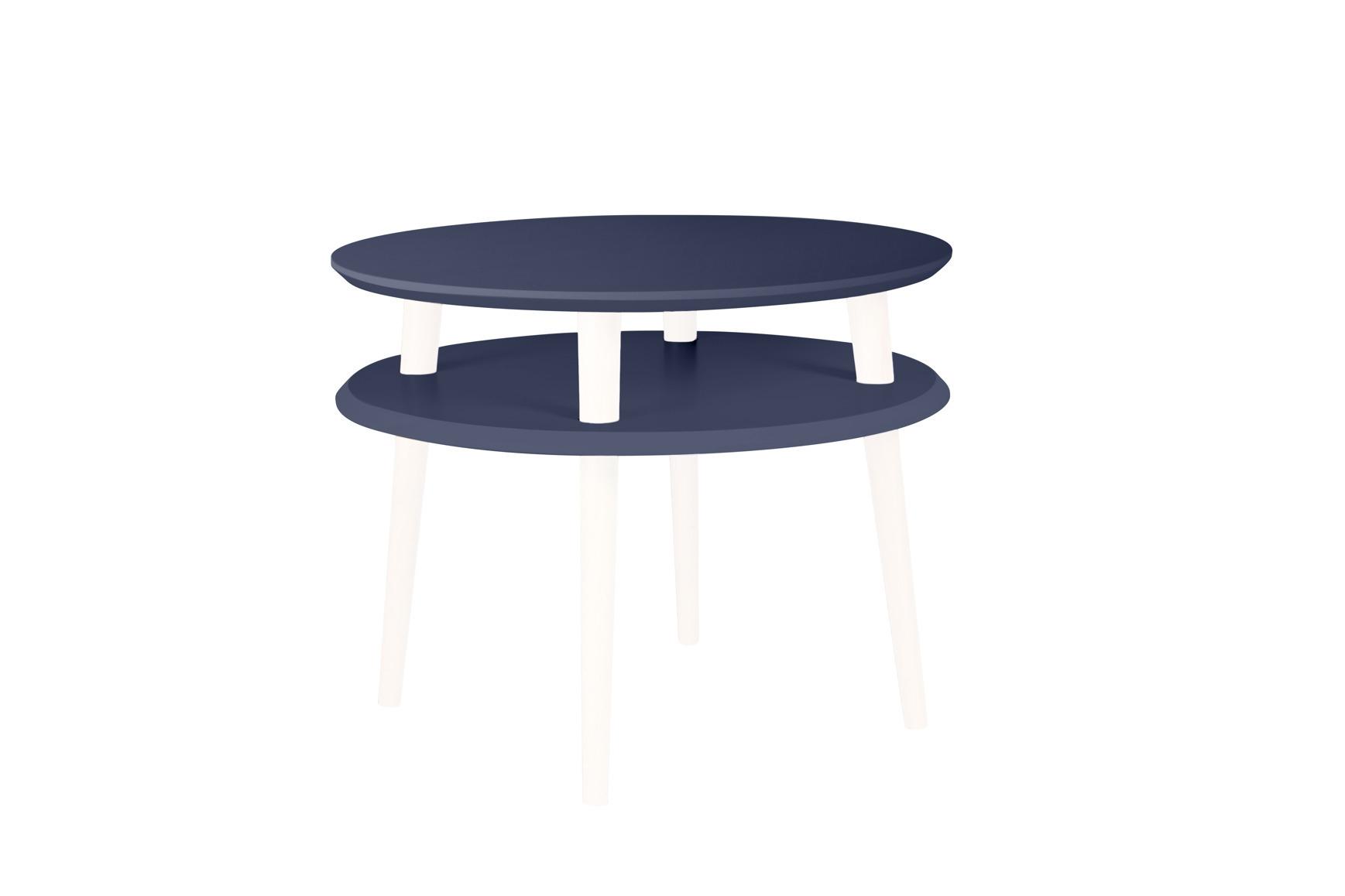 Masa de cafea din lemn de fag si MDF Ufo Medium Graphite / White O57xH45 cm