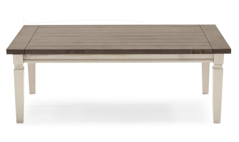Masa de cafea din lemn de pin Croft Antique White L120xl60xH45 cm