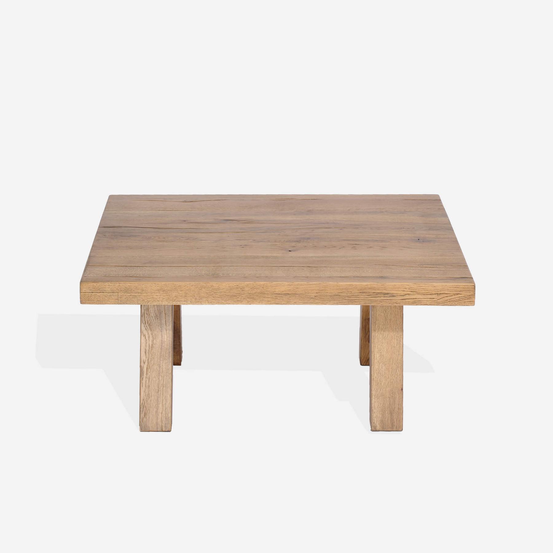 Masa de cafea din lemn de stejar salbatic Ares, L100xl90xH50 cm