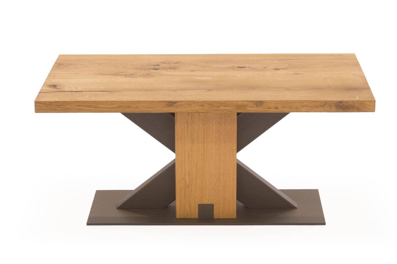 Masa de cafea din lemn de stejar si metal Lindau Oak L100xl60xH45 cm
