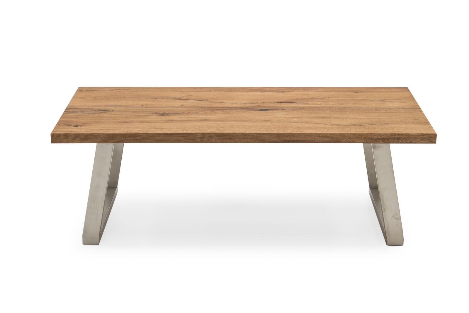 Masa de cafea din lemn de stejar si metal Trier Oak L130xl70xH425 cm