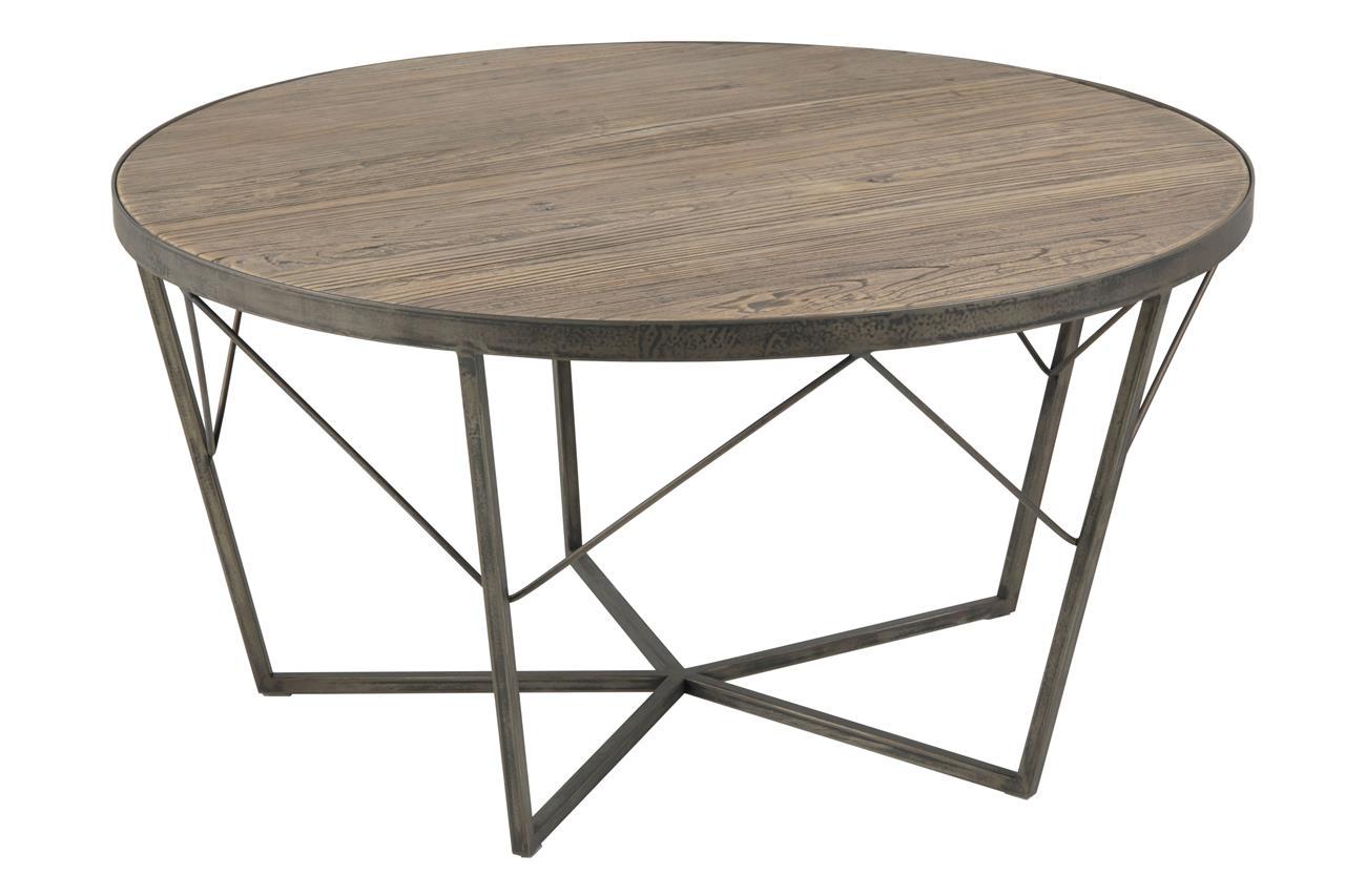 Masa de cafea si metal Durham Maro / Alama, Ø90xH45 cm