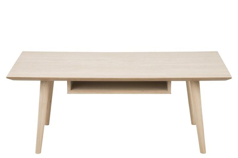 Masa de cafea din lemn si furnir Century Ivoir, L115xl60xh42 cm
