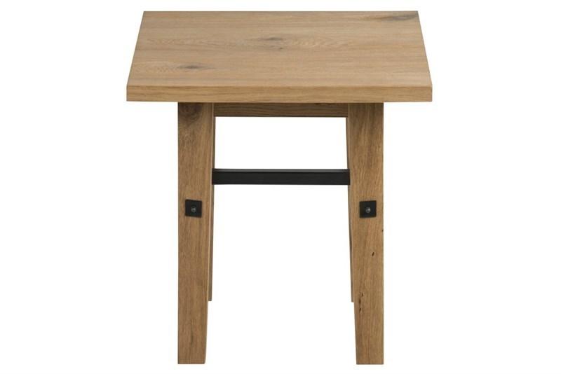 Masa de cafea din lemn si furnir Stockholm Oak L50xl50xH55 cm