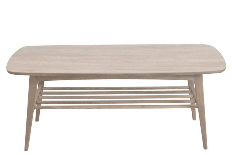 Masa de cafea din lemn si furnir Woodstock Ivory L120xl60xH47 cm