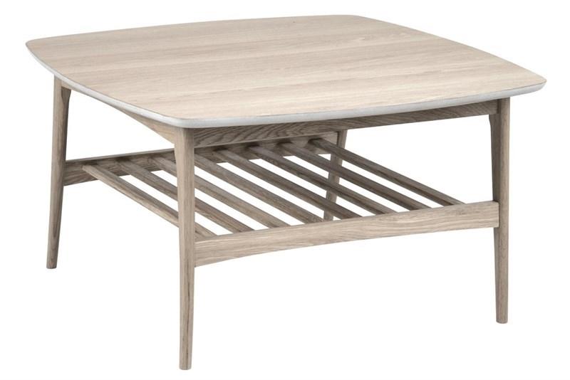 Masa de cafea, din lemn si furnir Woodstock Ivory, L80xl80xH45 cm imagine