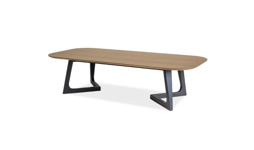 Masa de cafea din lemn si MDF Bianka A Oak / Graphite L150xl62xH37 cm