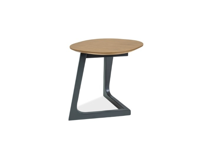 Masa de cafea, din lemn si MDF Bianka B Oak / Graphite, L45xl45xH47 cm imagine