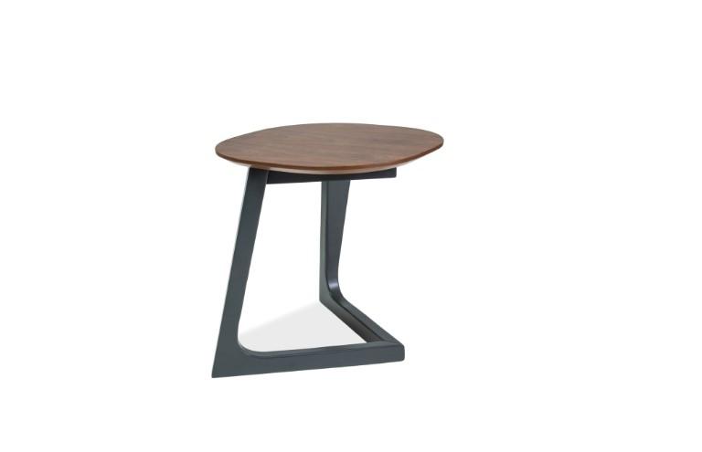 Masa de cafea din lemn si MDF Bianka B Walnut / Graphite L45xl45xH47 cm