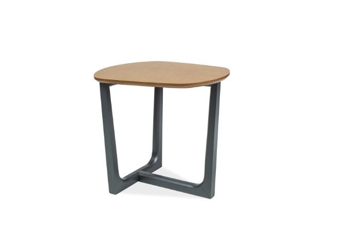 Masa de cafea din lemn si MDF Dossier B Oak / Graphite L52xl42xH48 cm