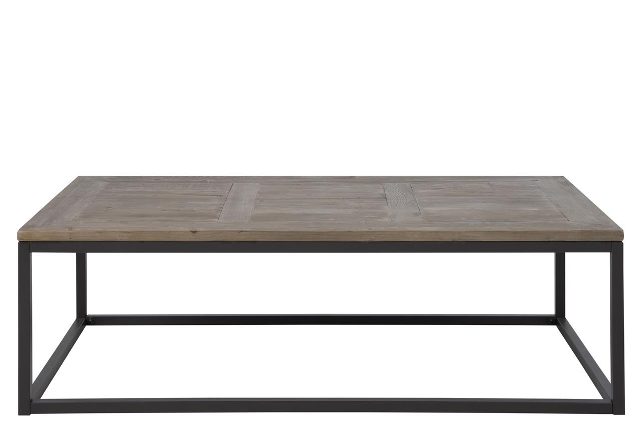 Masa de cafea din lemn si metal Rockwood Gri / Negru, L130xl70xH40 cm imagine