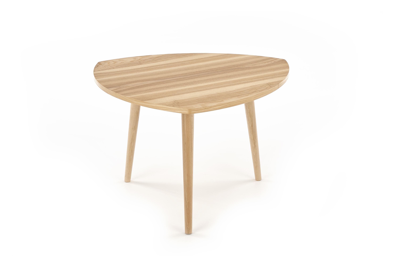 Masa de cafea din MDF si lemn de fag Coma Natural Ash, L73xl73xH47 cm imagine