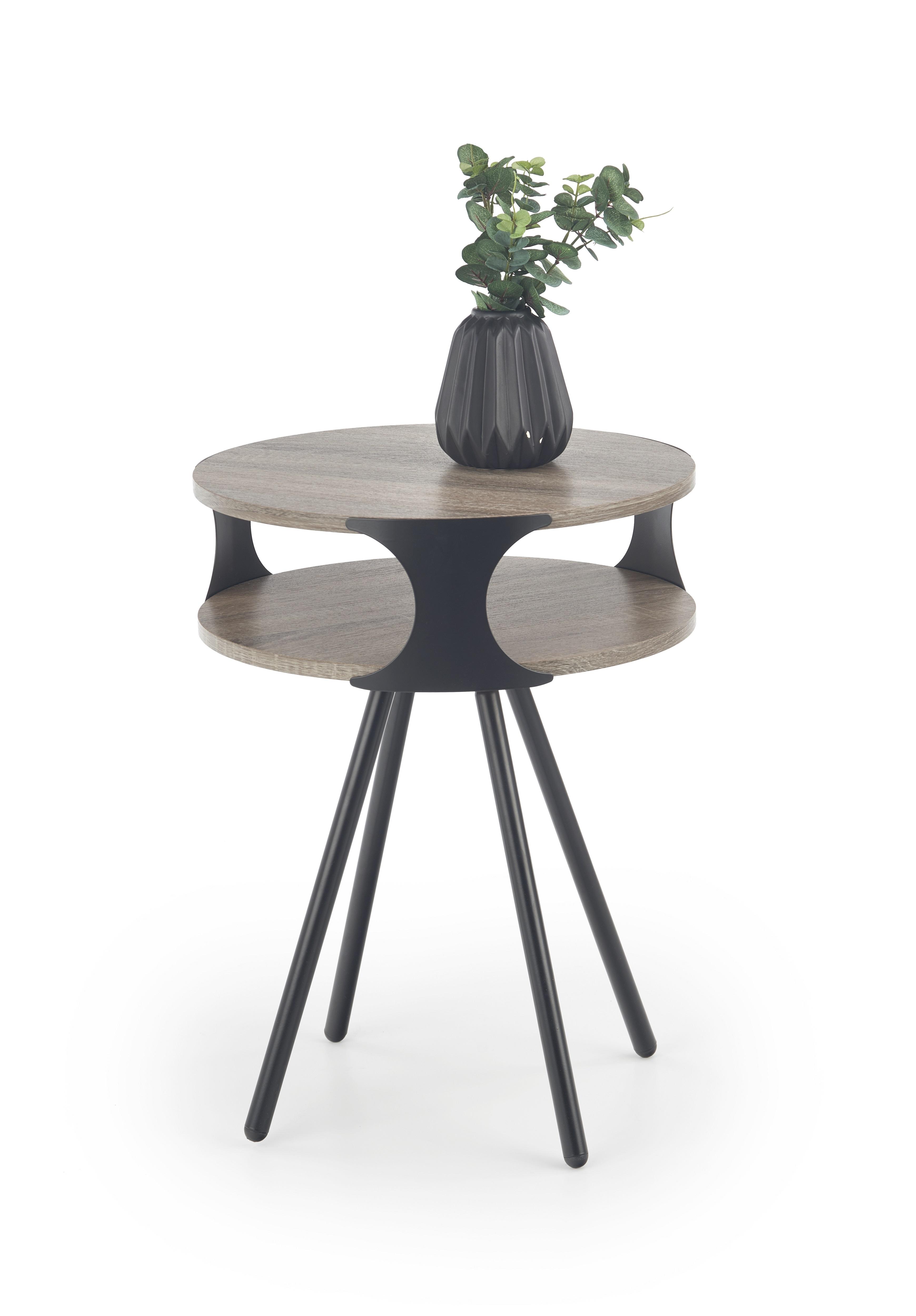Masa de cafea din MDF si metal Kirby, Ø45xh60 cm imagine