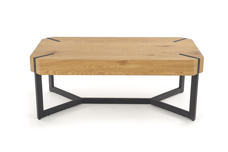 Masa de cafea din MDF si metal Lavida Golden Oak / Black, L110xl60xH43 cm poza