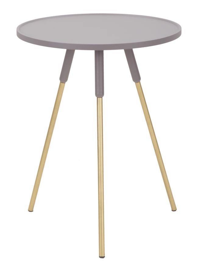 Masa de cafea din MDF si metal Lille Purple O45xH58 cm