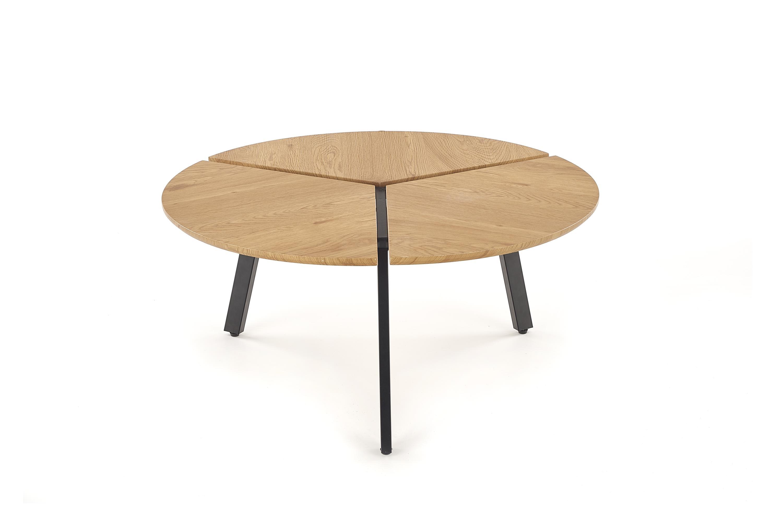 Masa de cafea din MDF si metal Luana Golden Oak / Black O86xH40 cm