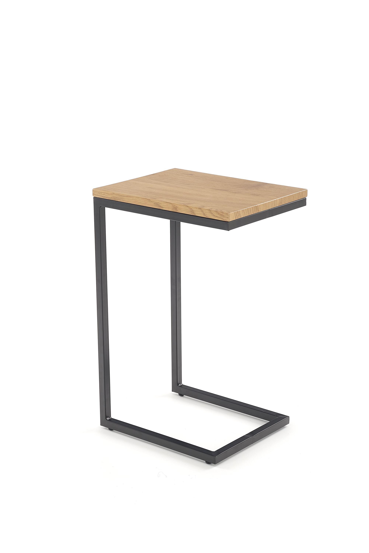 Masa de cafea din MDF si metal Nisa Golden Oak / Black, L40xl30xH60 cm imagine