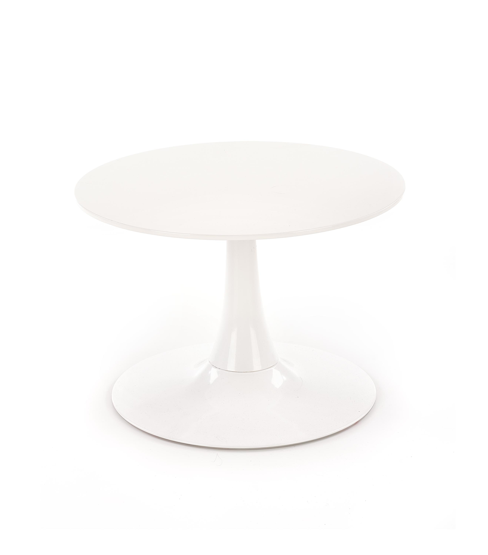 Masa de cafea din MDF si metal Slima White, Ø60xH41 cm imagine