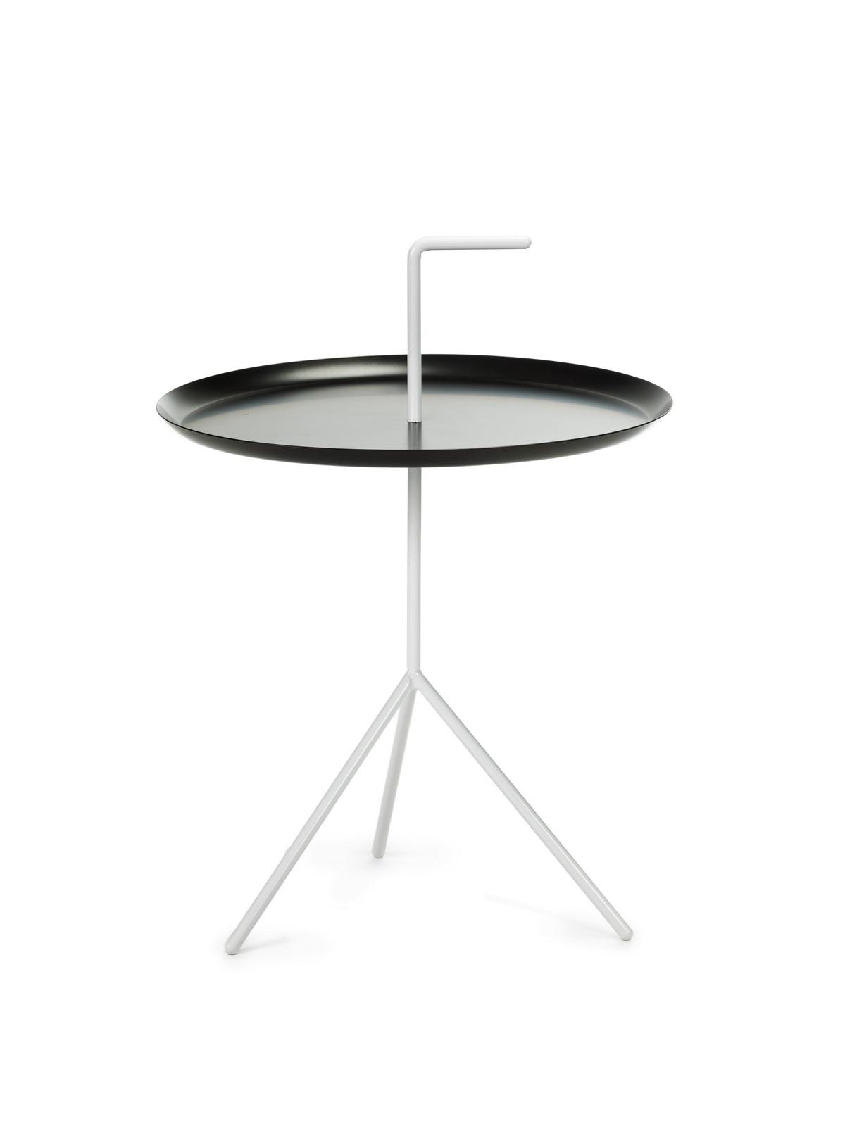 Masa de cafea, din metal Phil Alb / Negru, Ø48xH48 cm