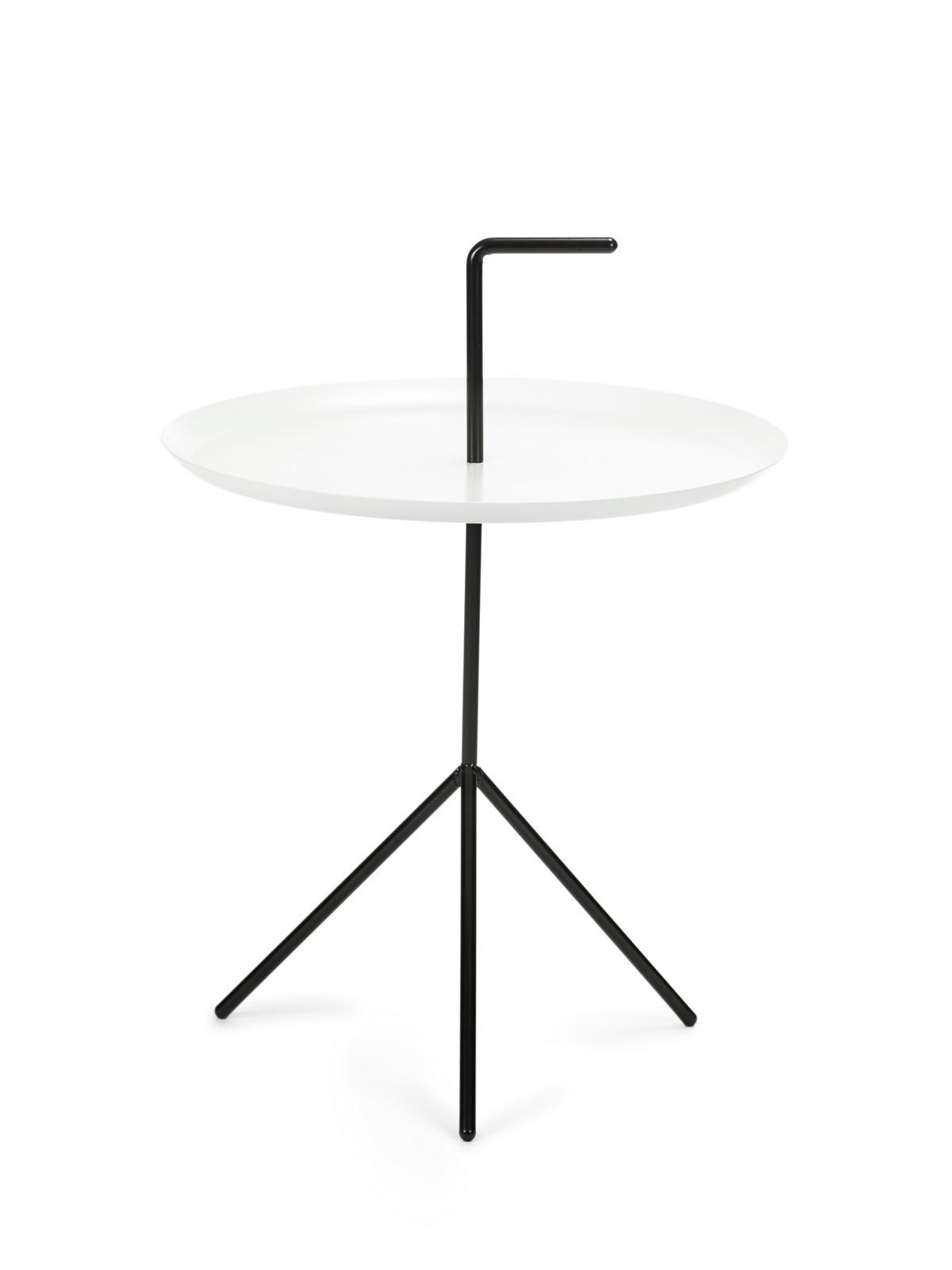 Masa de cafea, din metal Phil Negru / Alb, Ø48xH48 cm