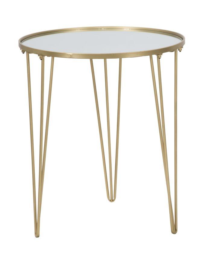 Masa de cafea din metal si sticla Glam Auriu, Ø50xH58,5 cm poza