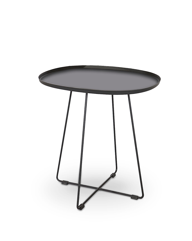 Masa de cafea din metal Tina Black, L50xl42xH51 cm