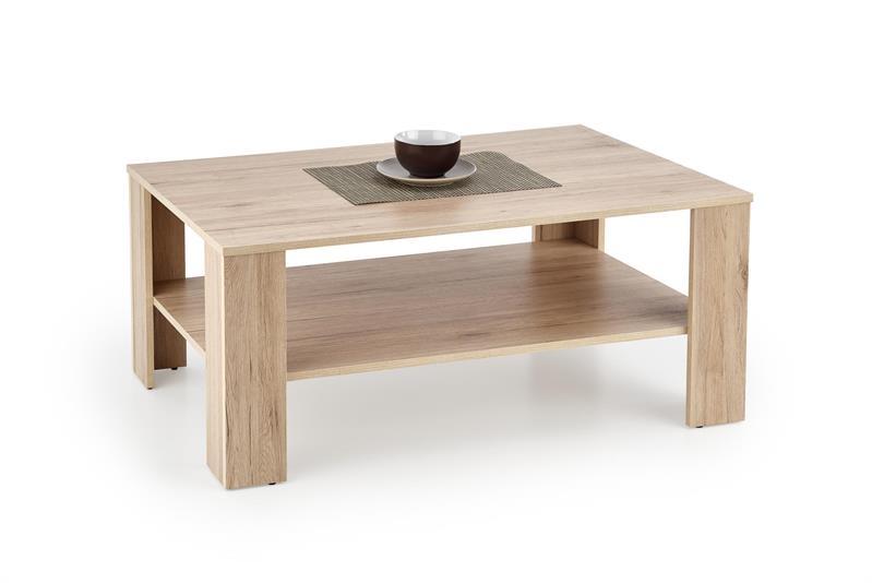Masa de cafea din pal Kwadro Stejar San Remo, L110xl65xH53 cm poza