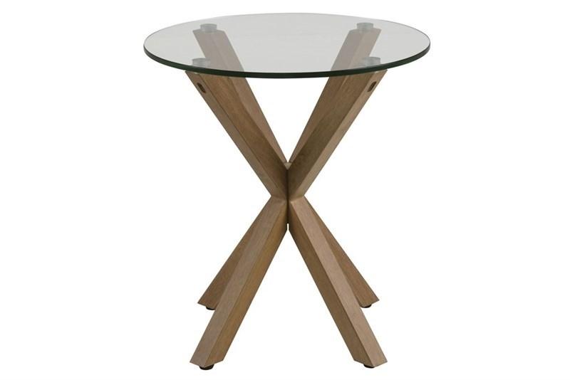 Masa de cafea din sticla Heaven Oak O50xh55 cm