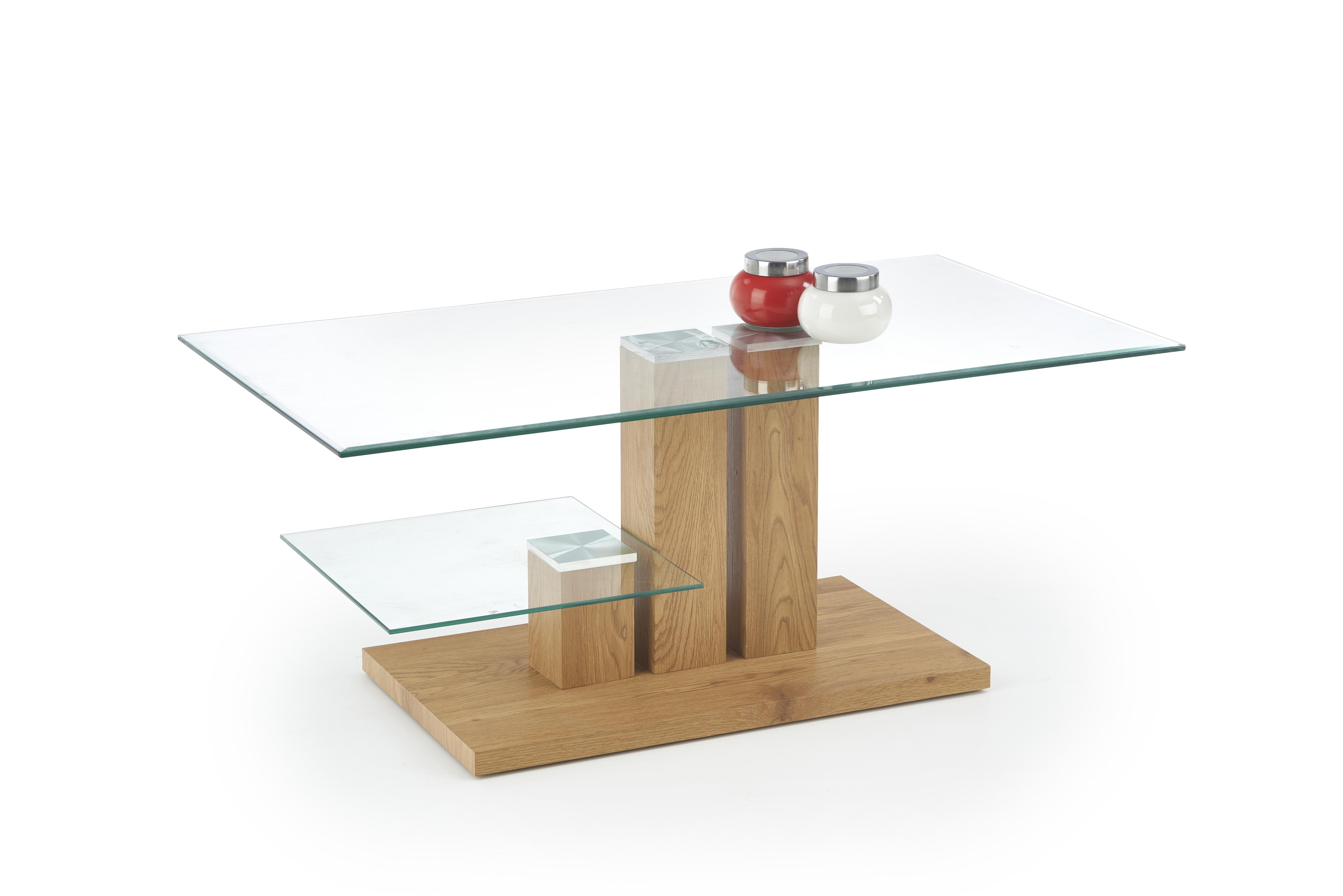 Masa de cafea din sticla si MDF Tempa L110xl60xh45 cm