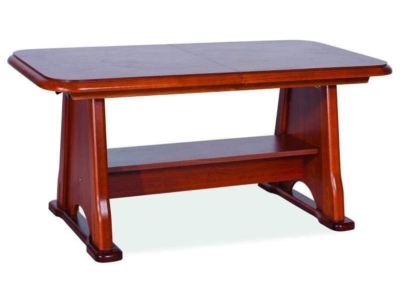Masa de cafea extensibila din lemn si pal Beata Castan, L130-170xl67xH60-77 cm poza