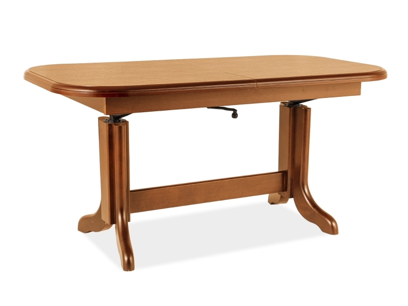 Masa de cafea extensibila din lemn si pal Emil Arin, L127-164xl67xH60-75 cm