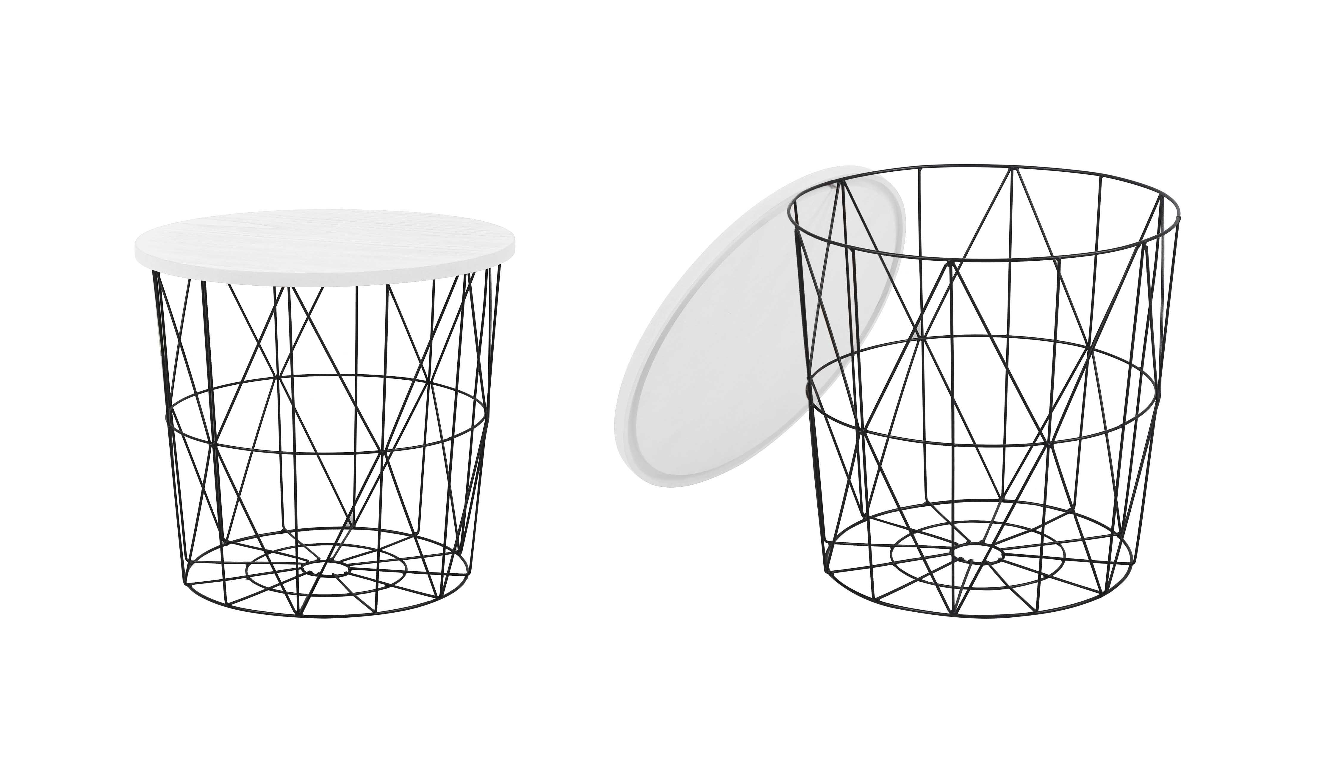 Masa de cafea Mariffa White/ Black O42xh41 cm